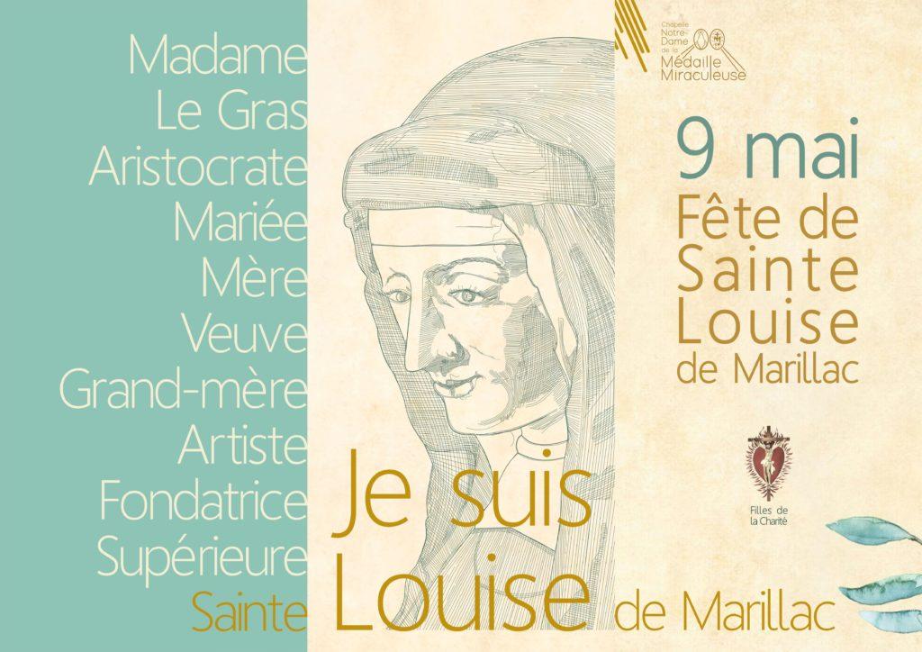 Plakat ze świętą Ludwiką de Marilliac
