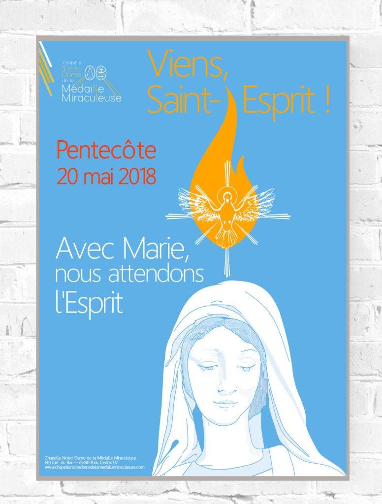 Projekt graficzny plakatów na Zesłanie Ducha Świętego