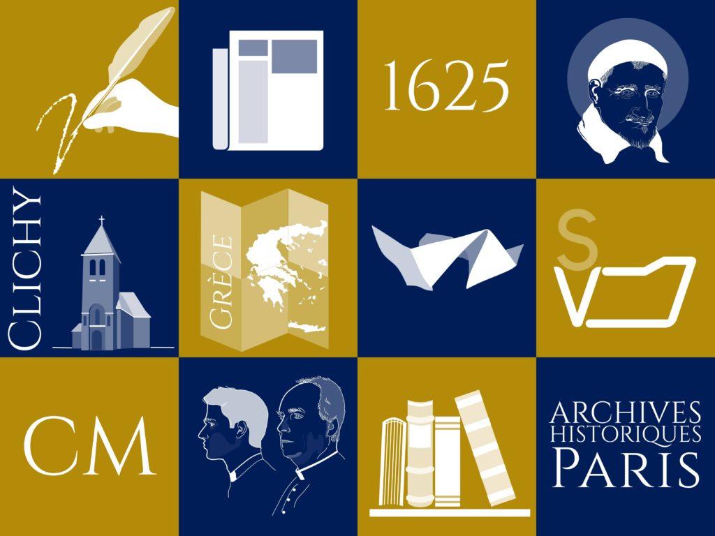 Projekt graficzny piktogramów na stronę internetową Archiwum Domu Macierzystego Lazarystów