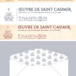 Projekt papeterii/ papieru listowego Domu Świętego Kazimierza w Paryżu